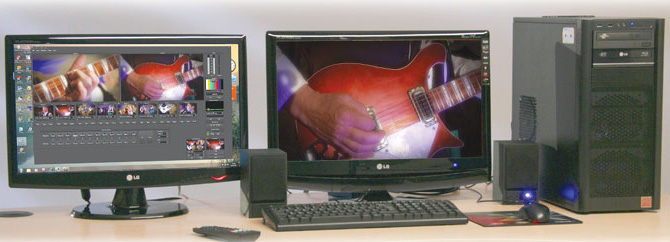 Live video streaming and vision switching on a PC using VidBlaster