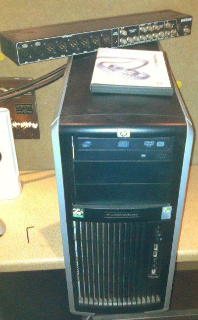 Used Matrox Axio LE in  HP xw9300 HD editing PC