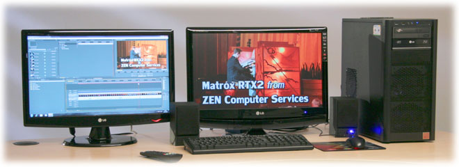 Matrox RT.X2 PC edting system from ZEN Computer Services